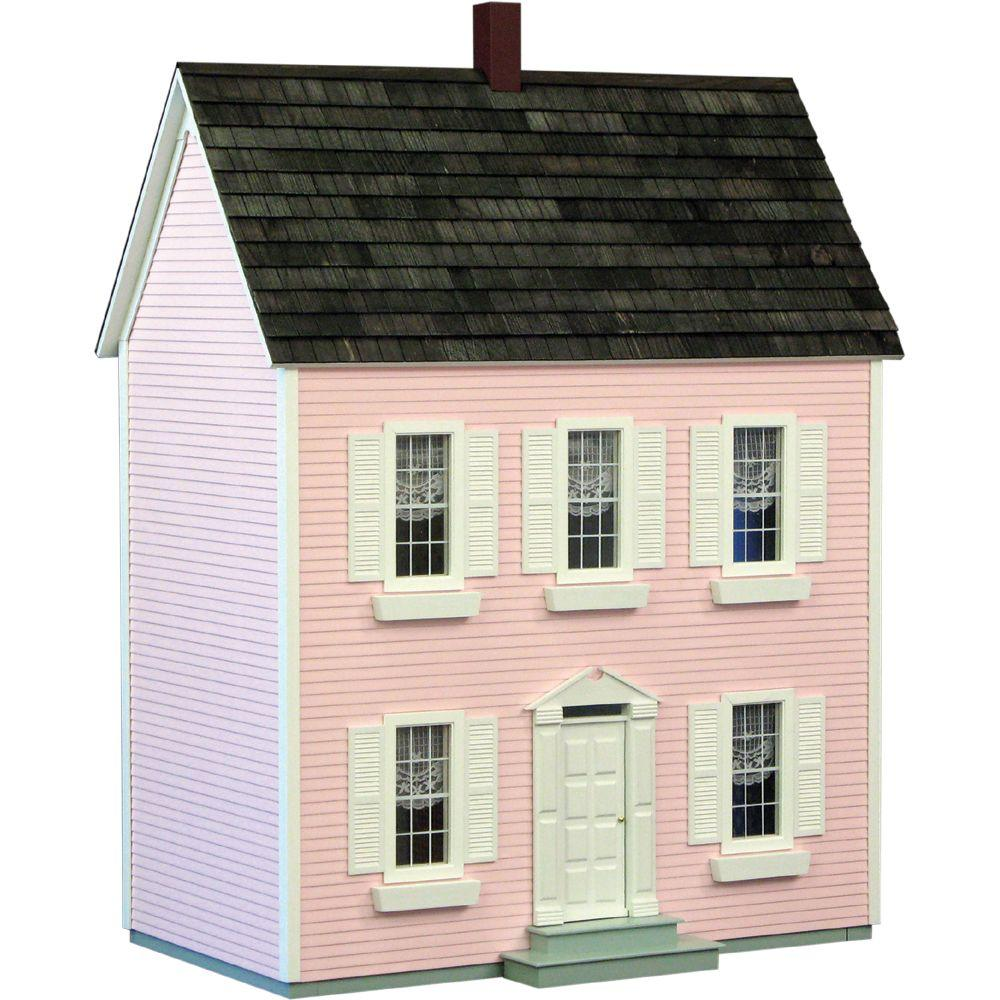 null Pink Classic Colonial Dollhouse