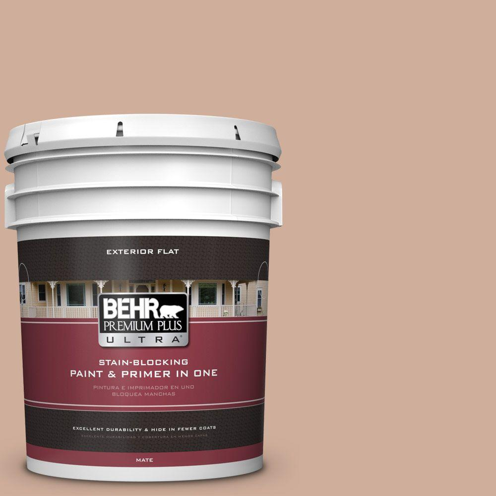 BEHR Premium Plus Ultra 5-gal. #S200-3 Iced Copper Flat Exterior Paint