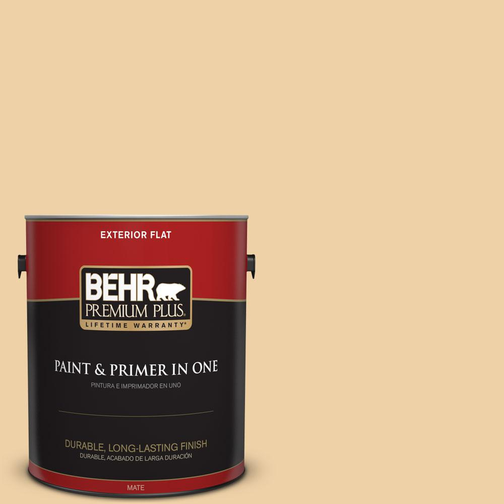 Home Decorators Collection 1-gal. #HDC-CT-01 Amber Moon Flat Exterior Paint