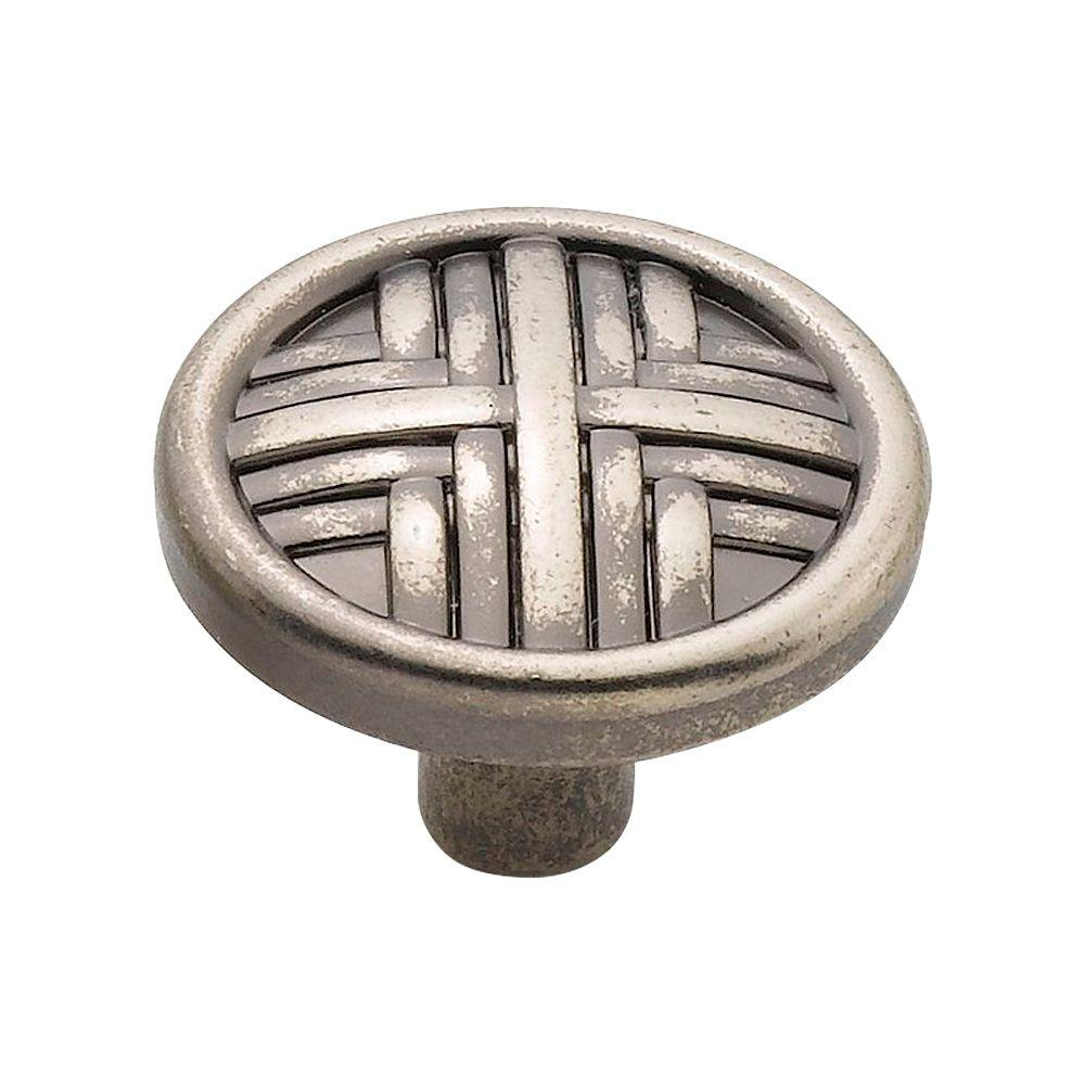 Knobware 1.25 in. Antique Nickel Hard Cross Knob-C3560/1-1-4in/AN - The Home