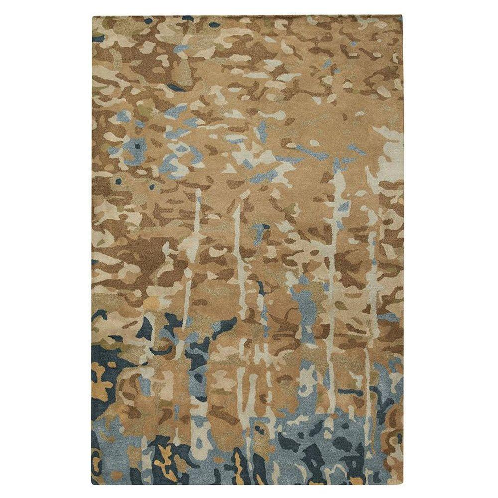 Home Decorators Collection Watercolor Brown/Multi 3 ft. 6 in. x 5 ft. 6 in. Area Rug