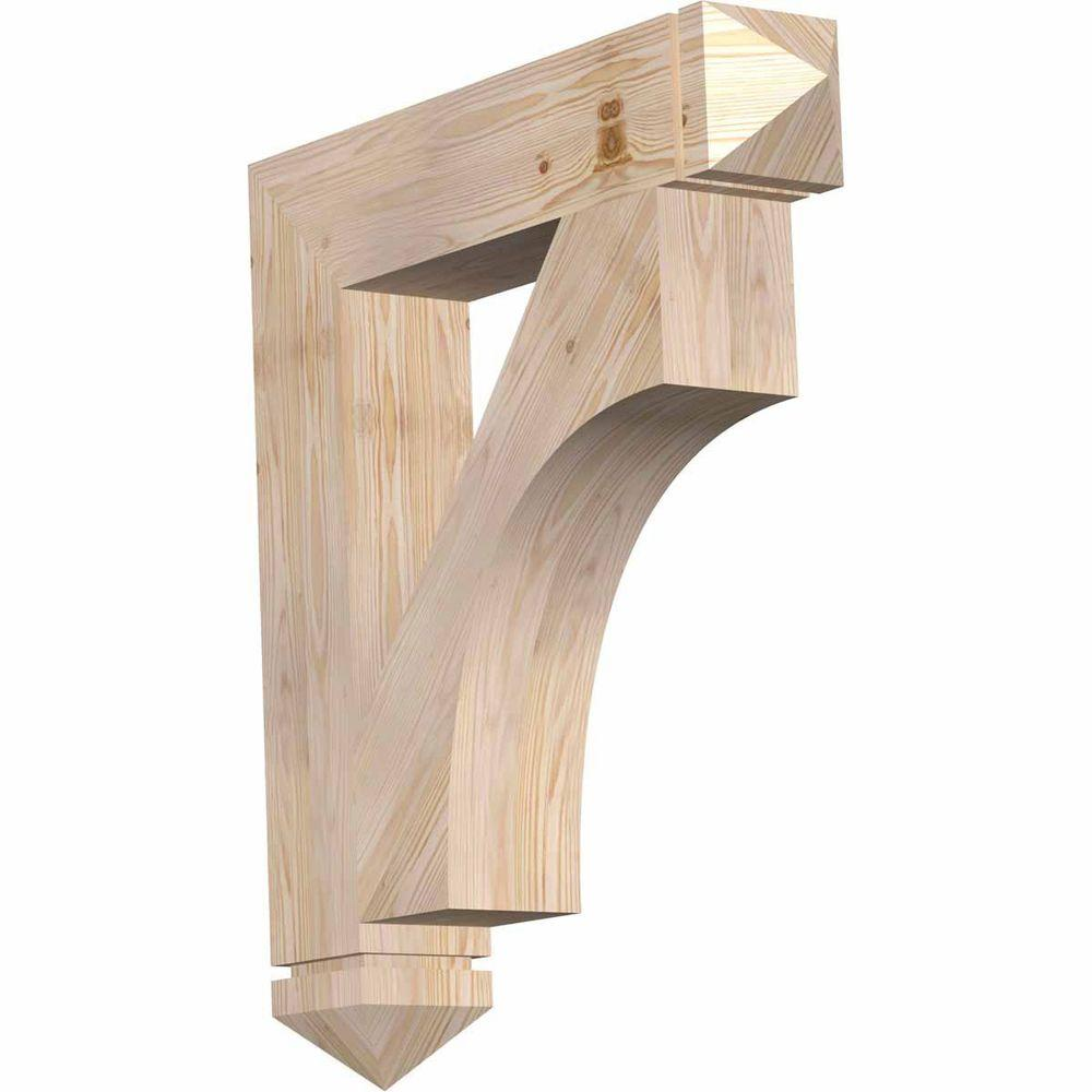 Ekena Millwork 5.5 in. x 34 in. x 30 in. Douglas Fir Westlake Arts and Crafts Smooth Bracket
