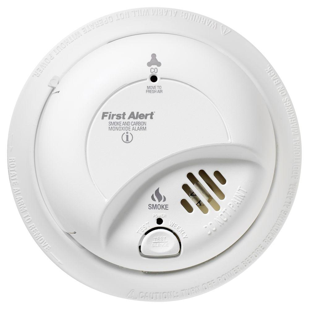 Hardwired Interconnected Smoke and CO Alarm with Battery Backup