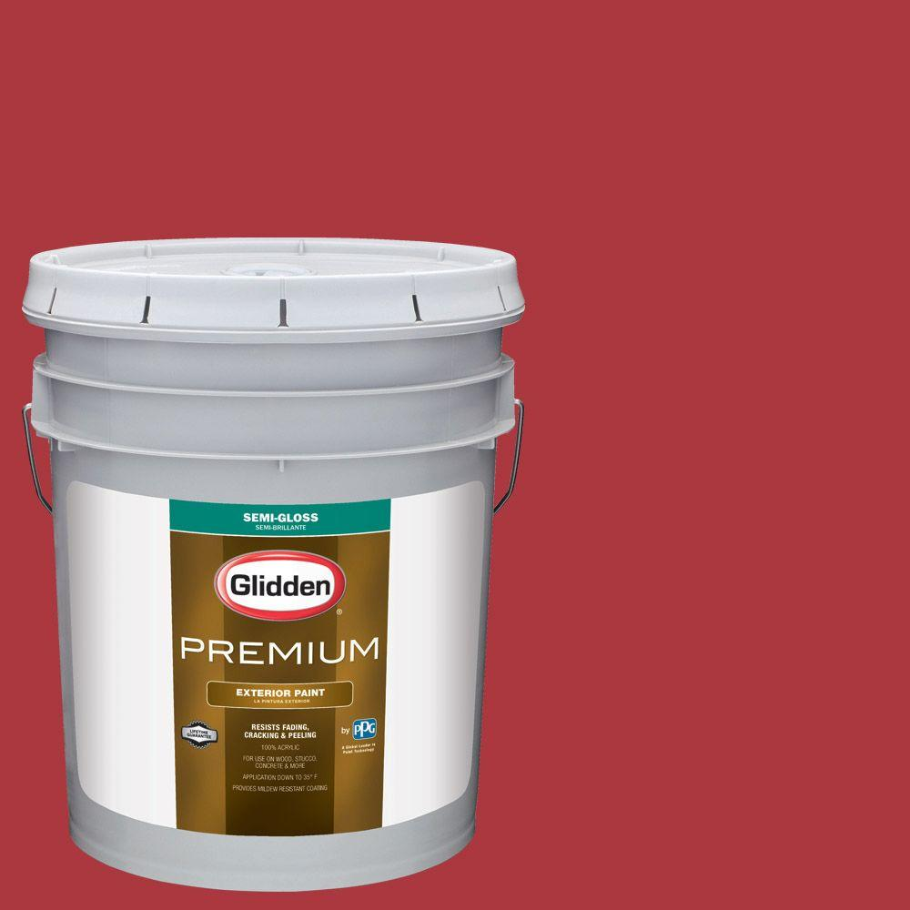 5-gal. #HDGR40 Candy Apple Semi-Gloss Latex Exterior Paint