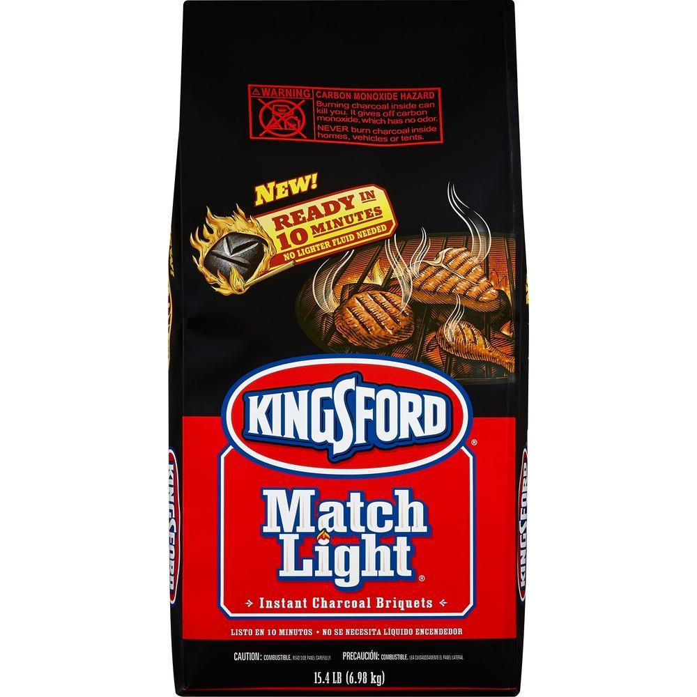 Kingsford 15.4 lb. Instant Charcoal Briquettes-4460031204 - The Home Depot