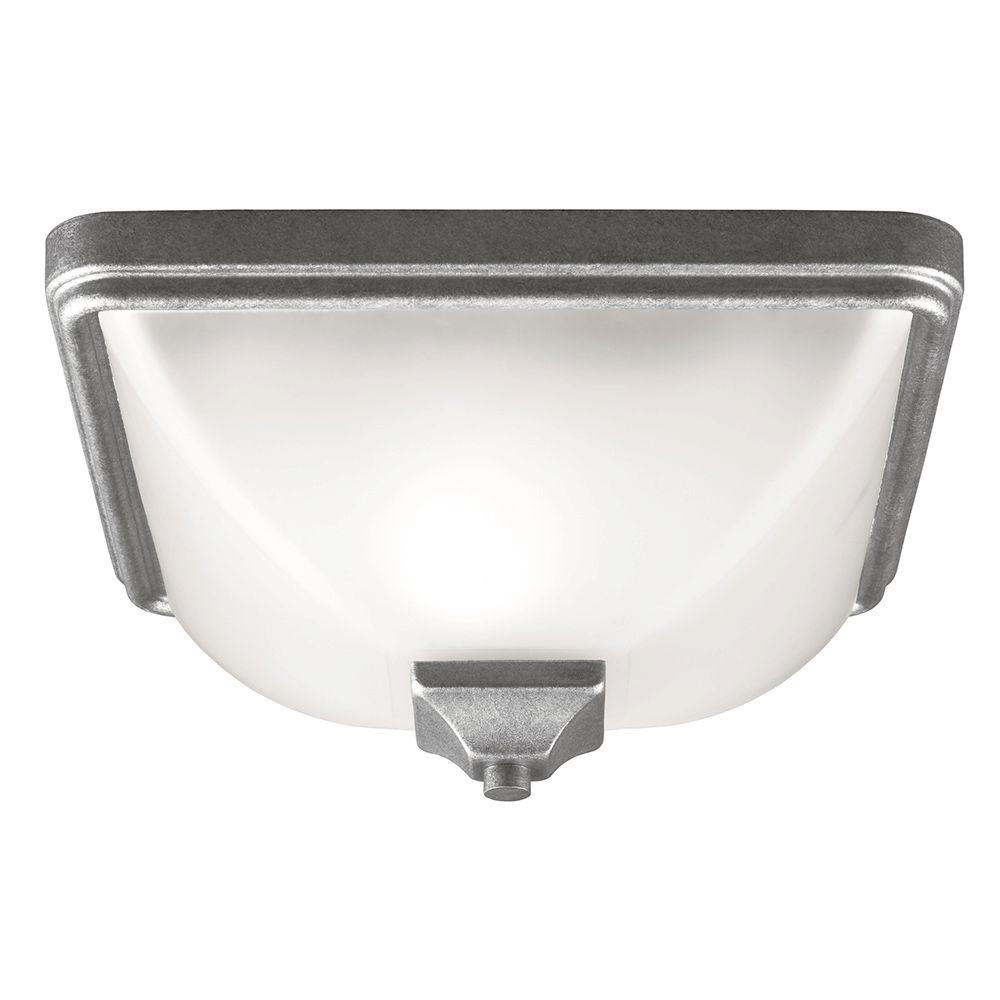 Sea Gull Lighting Irving Park 1-Light Weathered Pewter Outdoor Ceiling