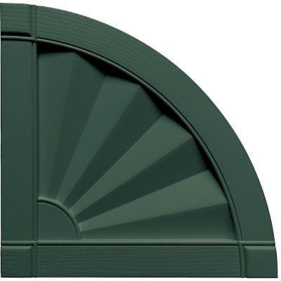 Builders Edge 15 in. x 15 in. Fanfold Design Midnight Green Quarter Round Tops Pair #122-DISCONTINUED