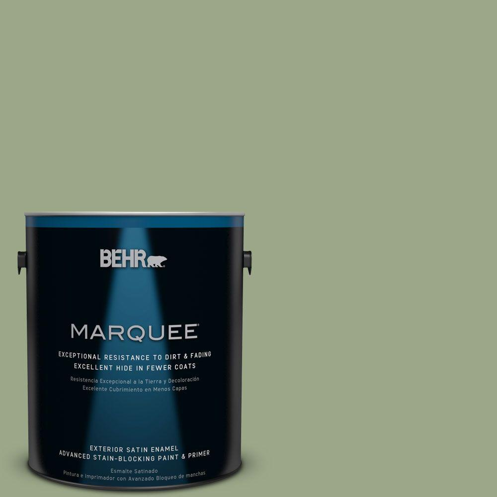BEHR MARQUEE 1-gal. #PPU11-7 Clary Sage Satin Enamel Exterior Paint-945401 -