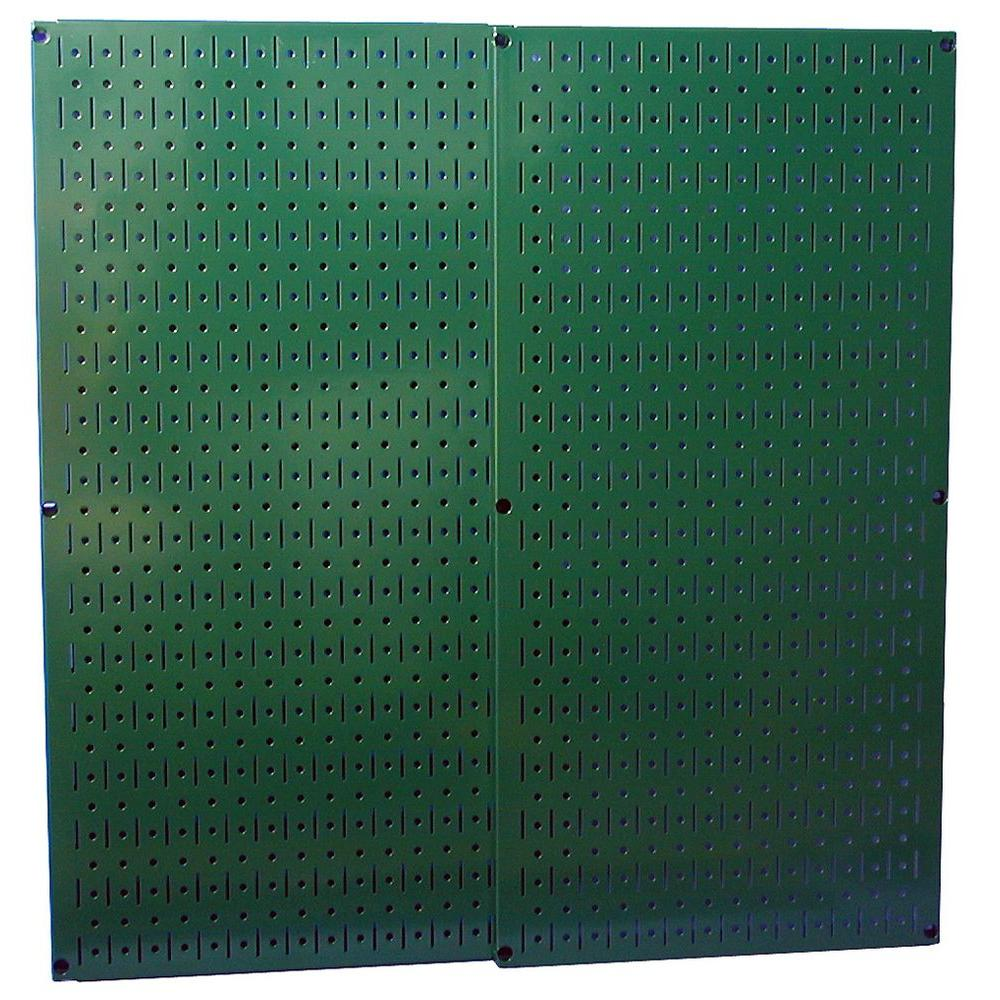 32 in. x 32 in. Overall Size Green Metal Pegboard Pack