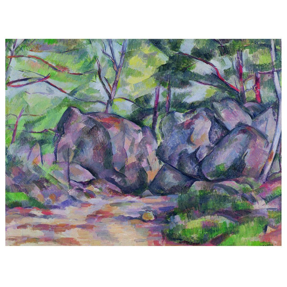 Trademark Fine Art 26 in. x 32 in. 'Woodland with Boulders