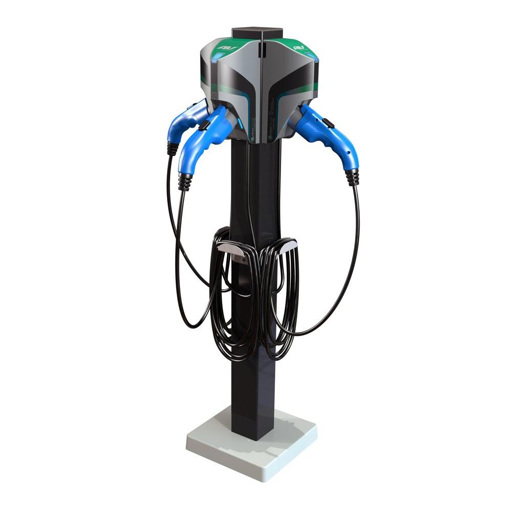 20 ft. 16-Amp 120/240-Volt Commercial/Workplace EV Charging Stations with Triple Pedestal