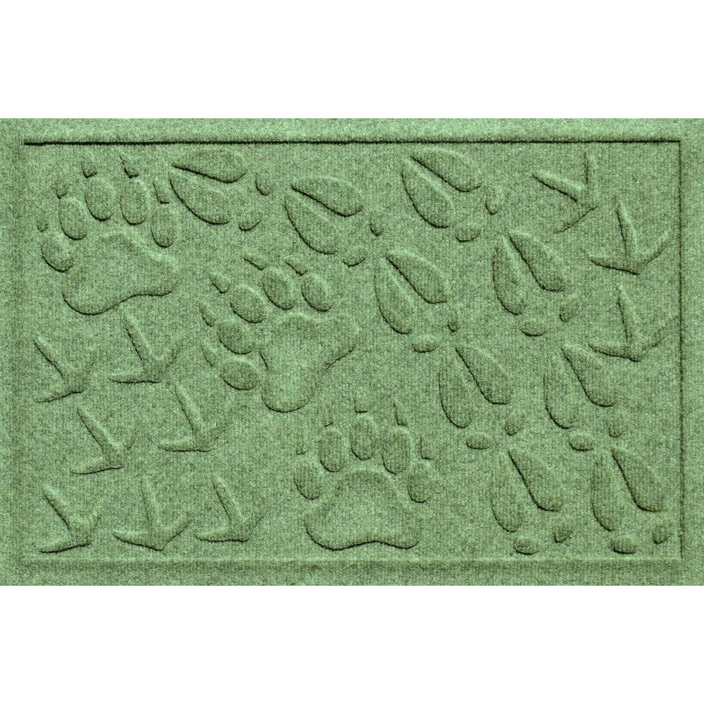 Bungalow Flooring Aqua Shield Paws and Bones Light Green 18 in.