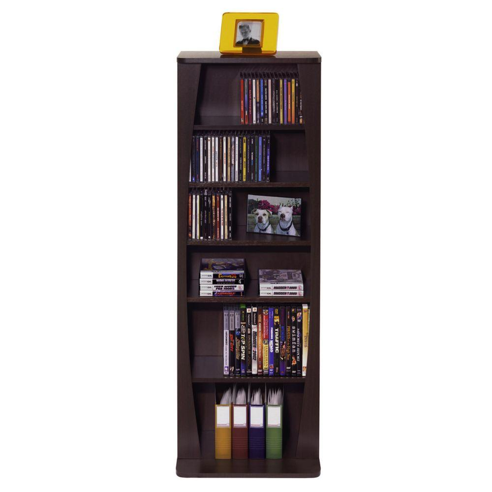 Canoe 231-CD or 115-DVD-Blu-Ray or Games Wood Look Cabinet in Espresso