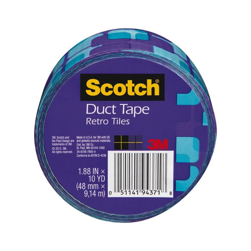 3M Scotch 1.88 in. x 10 yds. Violet Tiles Duct Tape