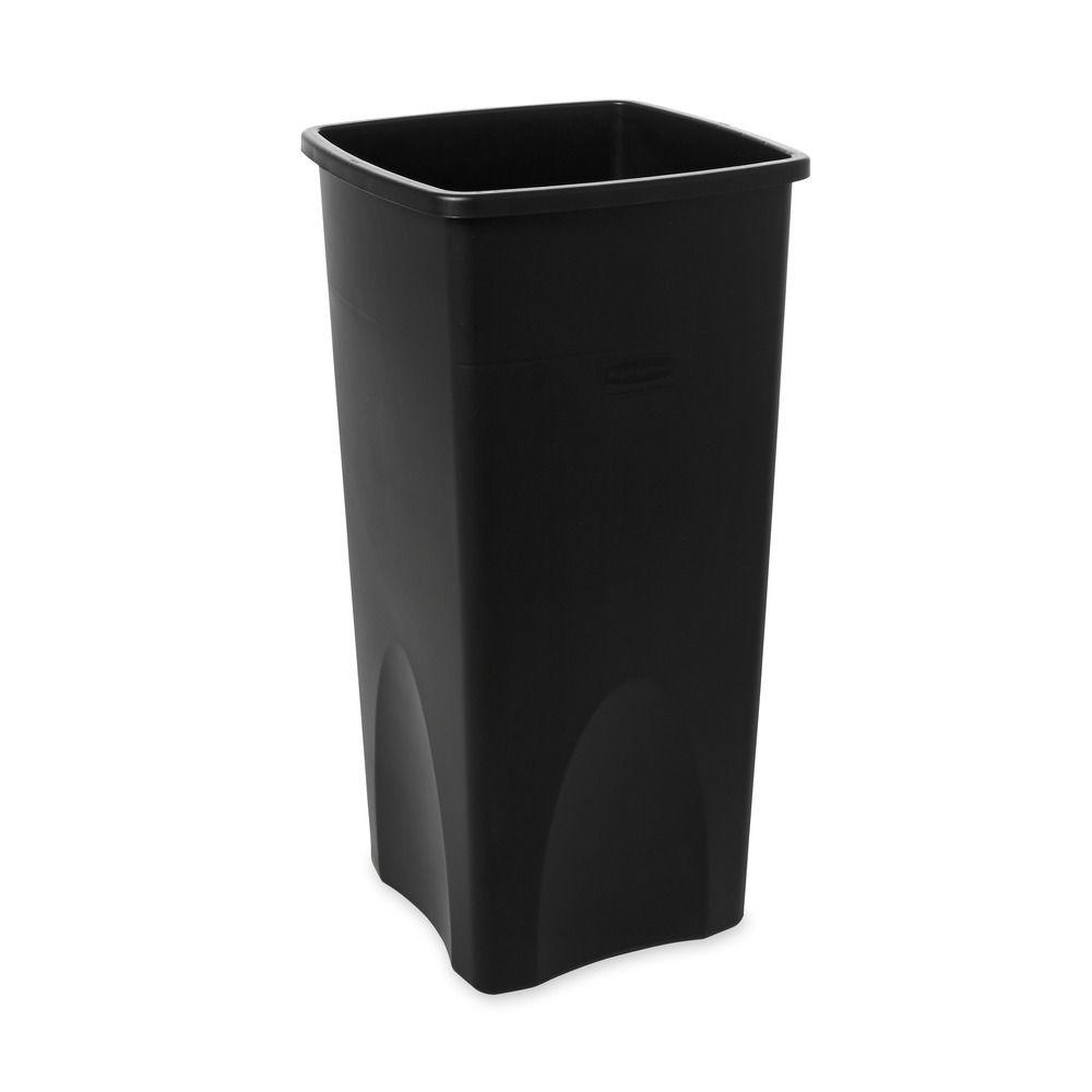 Black Kitchen Trash Cans Rubbermaid Commercial Products Untouchable 23 Gal Black Square