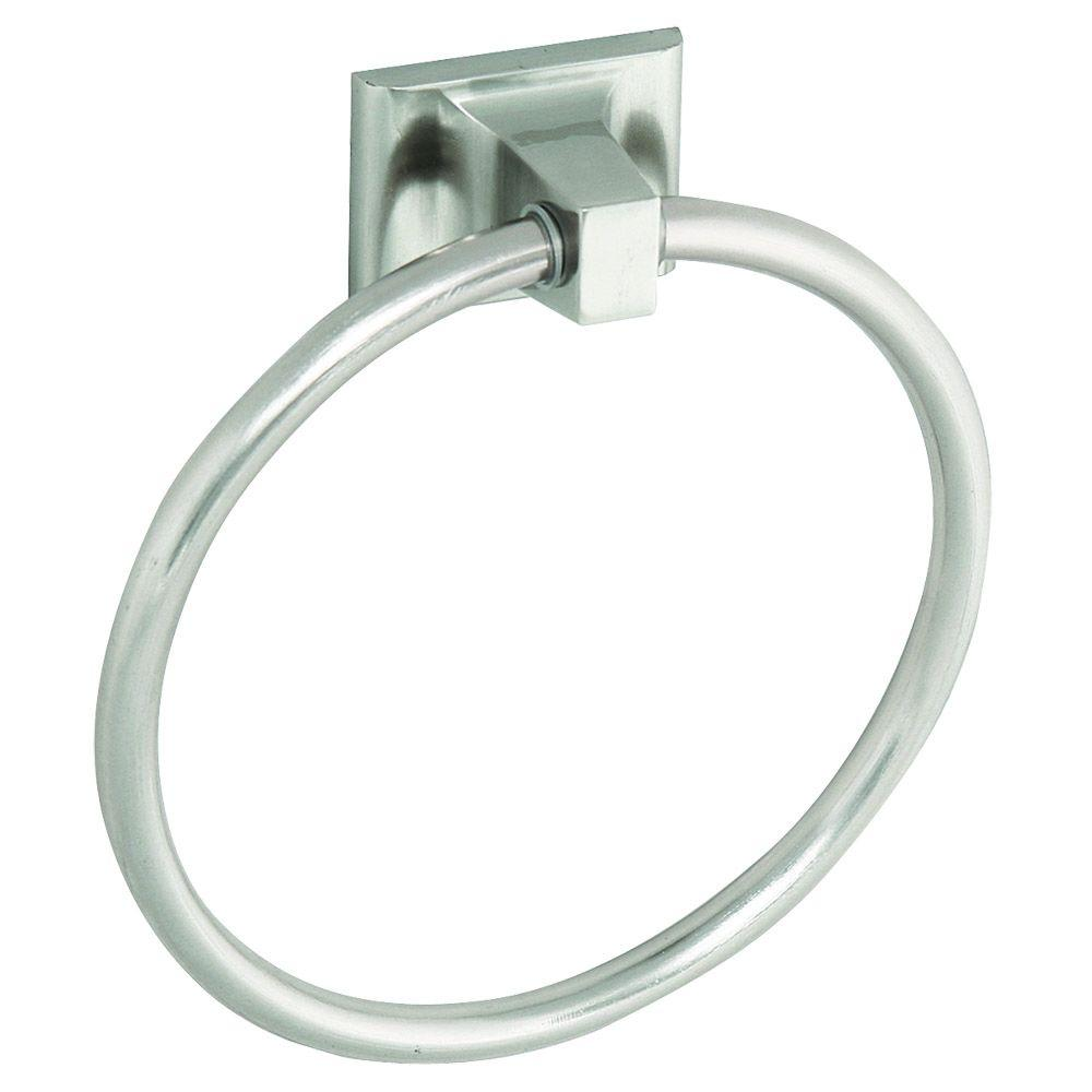 Design House Millbridge Towel Ring in Satin Nickel-539163 - The Home