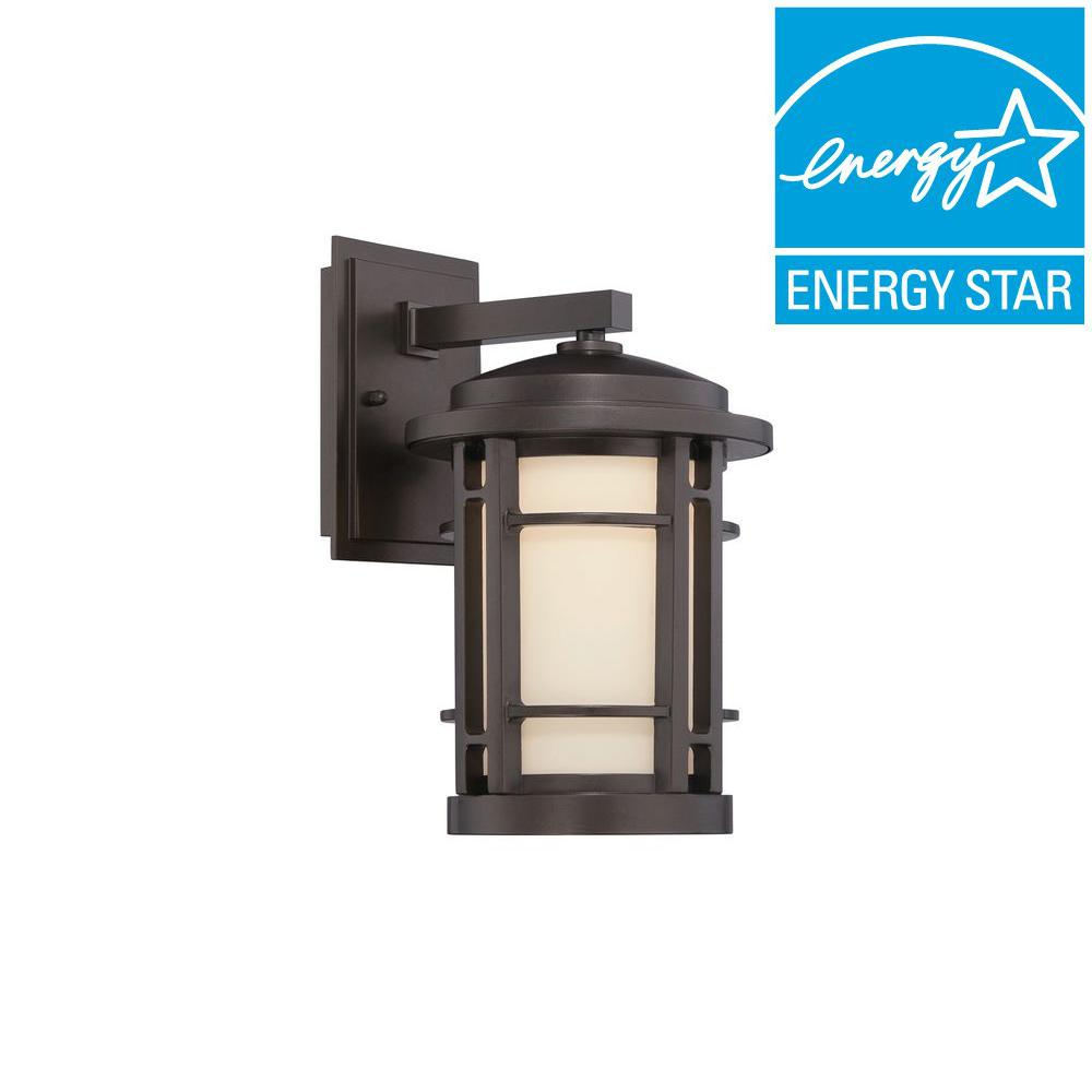 Designers Fountain Barrister Burnished Bronze Outdoor Wall Lantern-LED22421-BNB