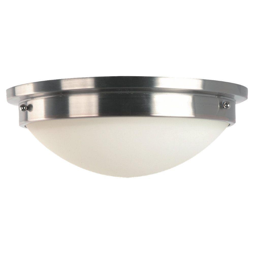 Feiss Gravity 2-Light Brushed Steel Indoor Flushmount-FM228BS/PN - The Home