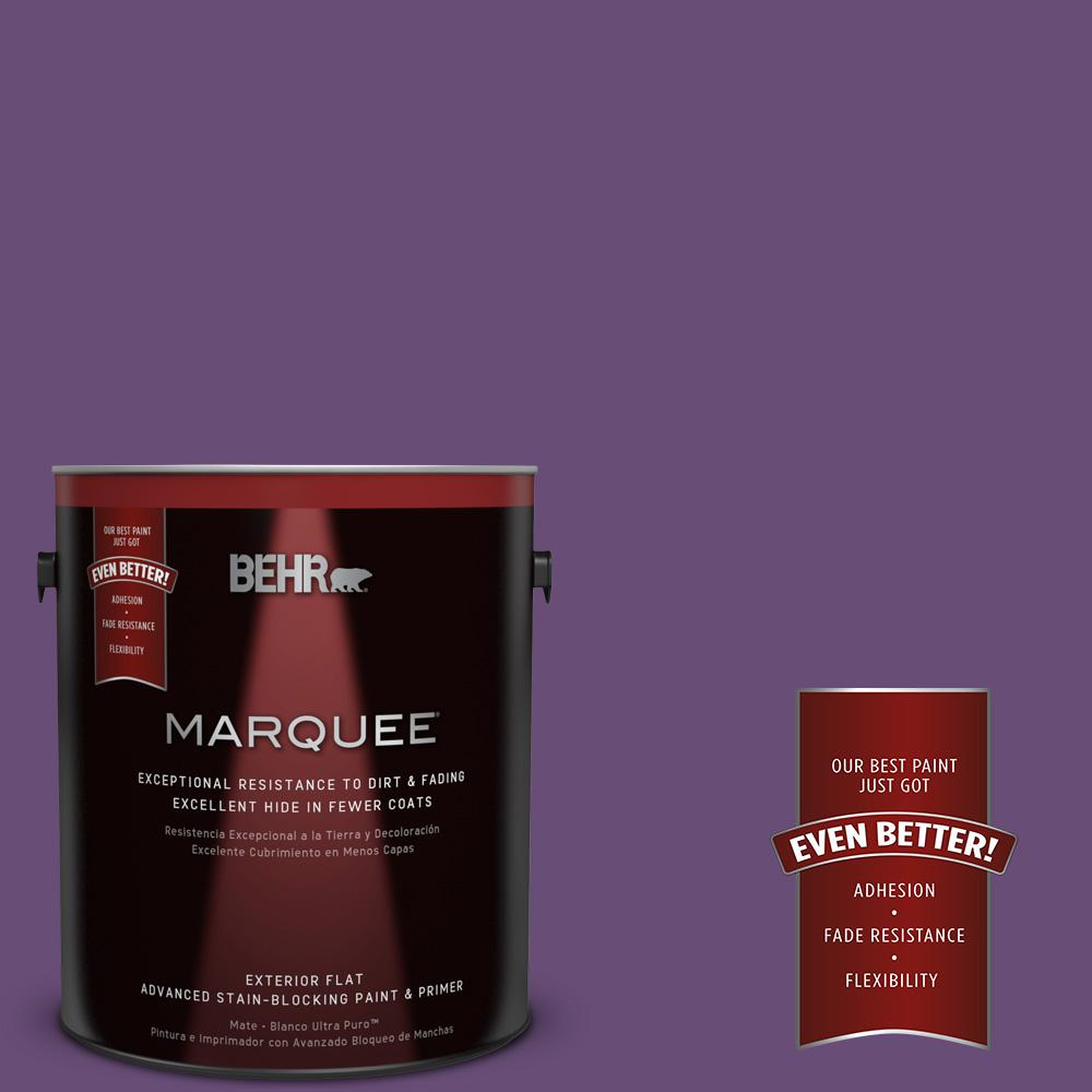 BEHR MARQUEE 1-gal. #660B-7 Exotic Purple Flat Exterior Paint-445301 - The