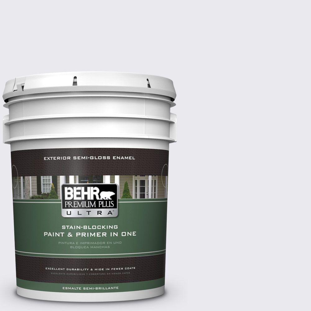 BEHR Premium Plus Ultra 5-gal. #640E-1 Silver Chalice Semi-Gloss Enamel Exterior Paint