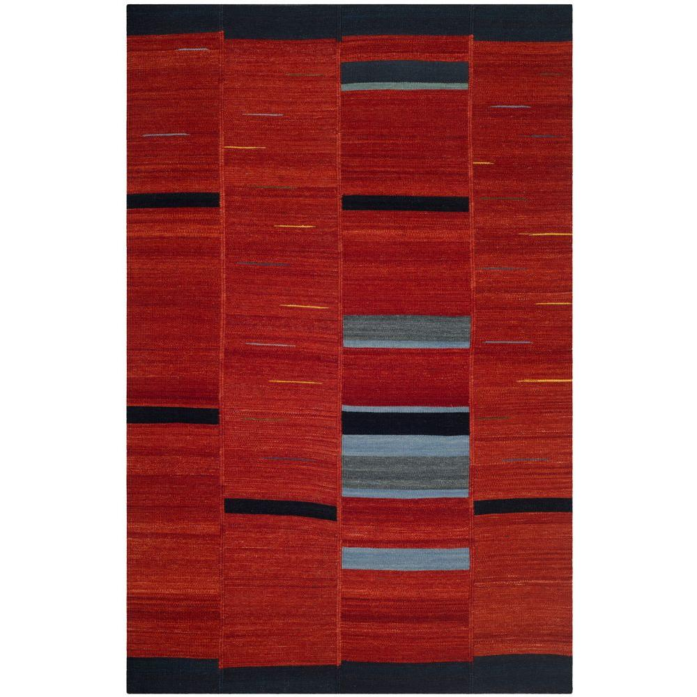Safavieh Kilim Red 4 ft. x 6 ft. Area Rug-KLM814A-4 -