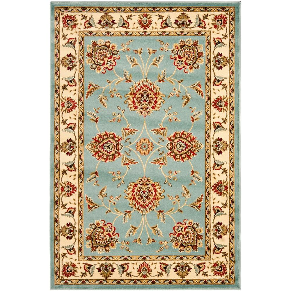 Lyndhurst Blue/Ivory 4 ft. x 6 ft. Area Rug