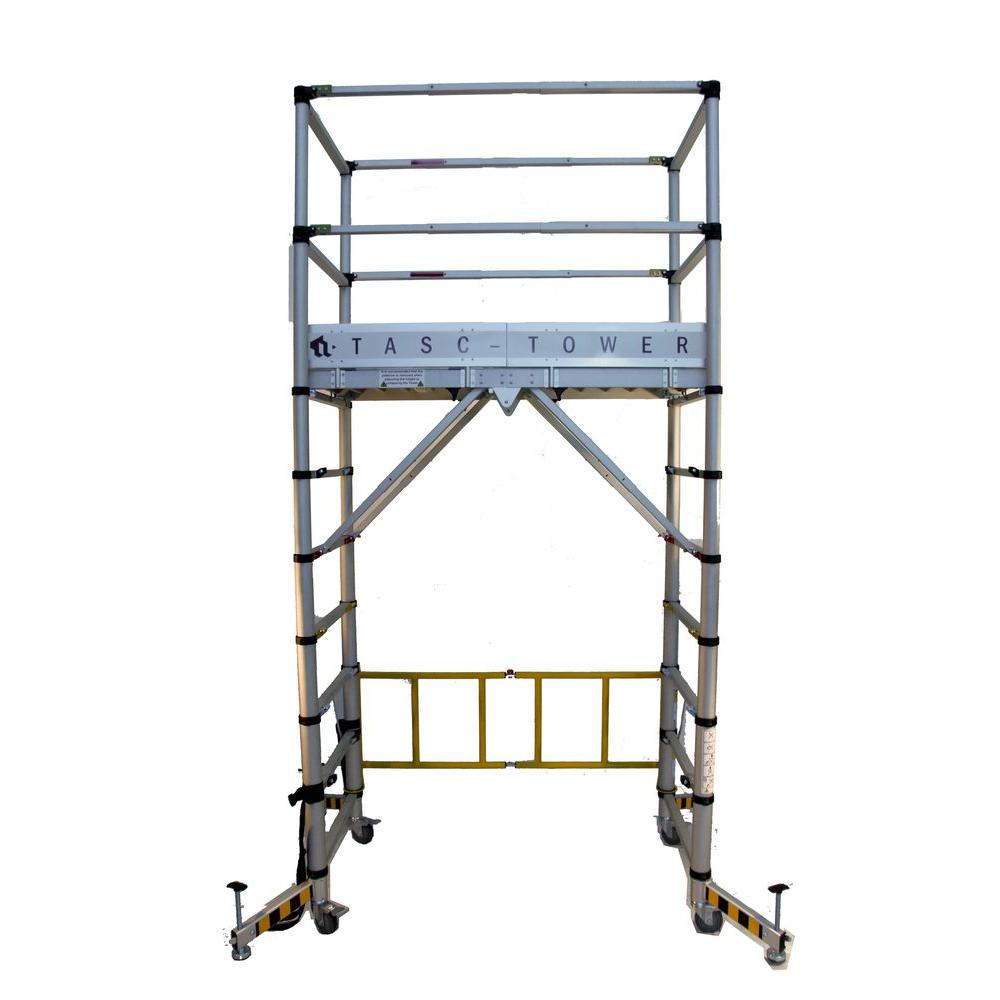 Telescopic Access TASC Tower 9 ft. 6 in. H x 6 ft. W x 4 ft. D Platform/Scaffolding with Toeboard Set