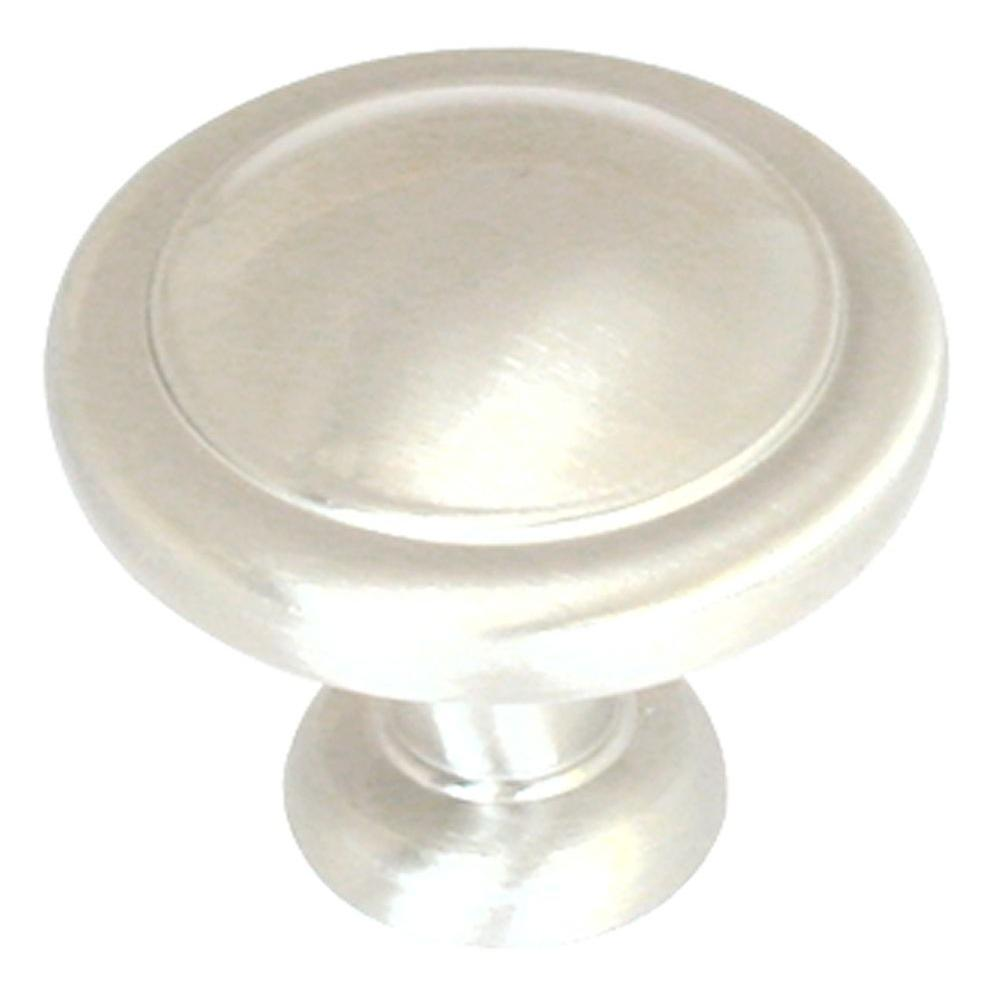 Amerock 1-1/4 in. Sterling Nickel Cabinet Knob-BP1387-G9 - The Home Depot