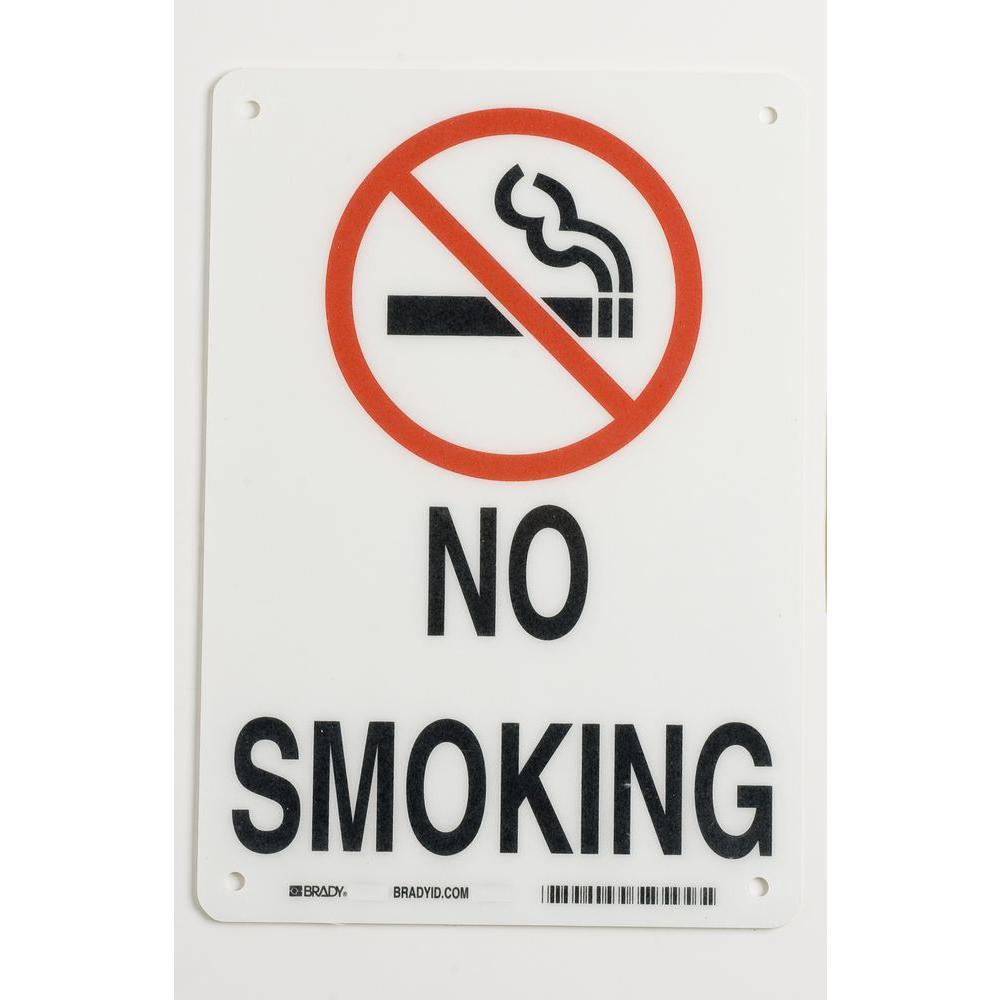 Brady 10 in. x 7 in. Plastic No Smoking Sign