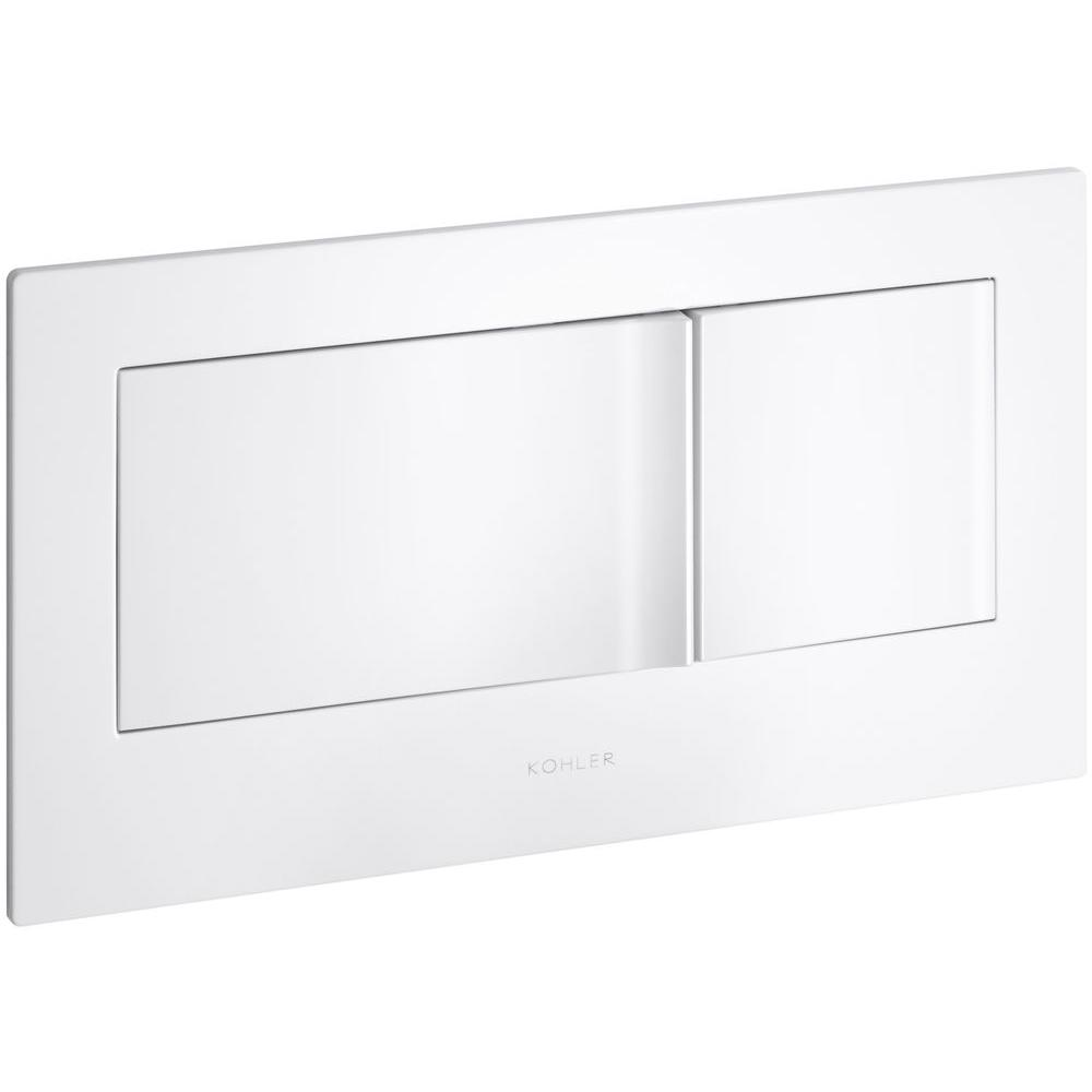 Veil Flush Actuator Plate in White