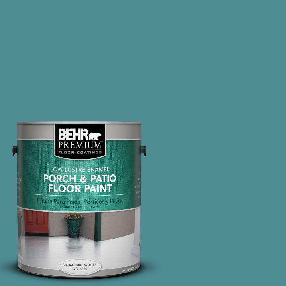 BEHR Premium 1-Gal. #pfc-49 Heritage Teal Low-Lustre Porch and Patio Floor Paint