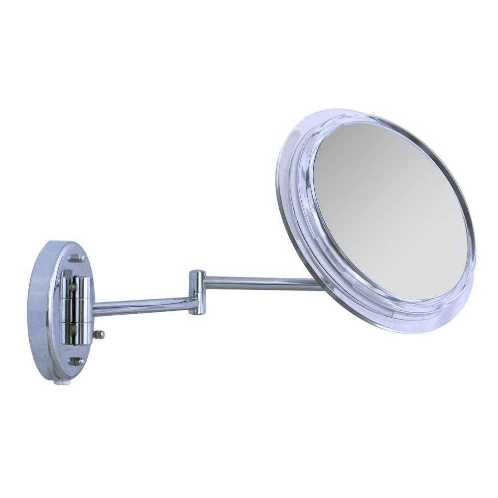Surround Light 7X Wall Mirror in Chrome