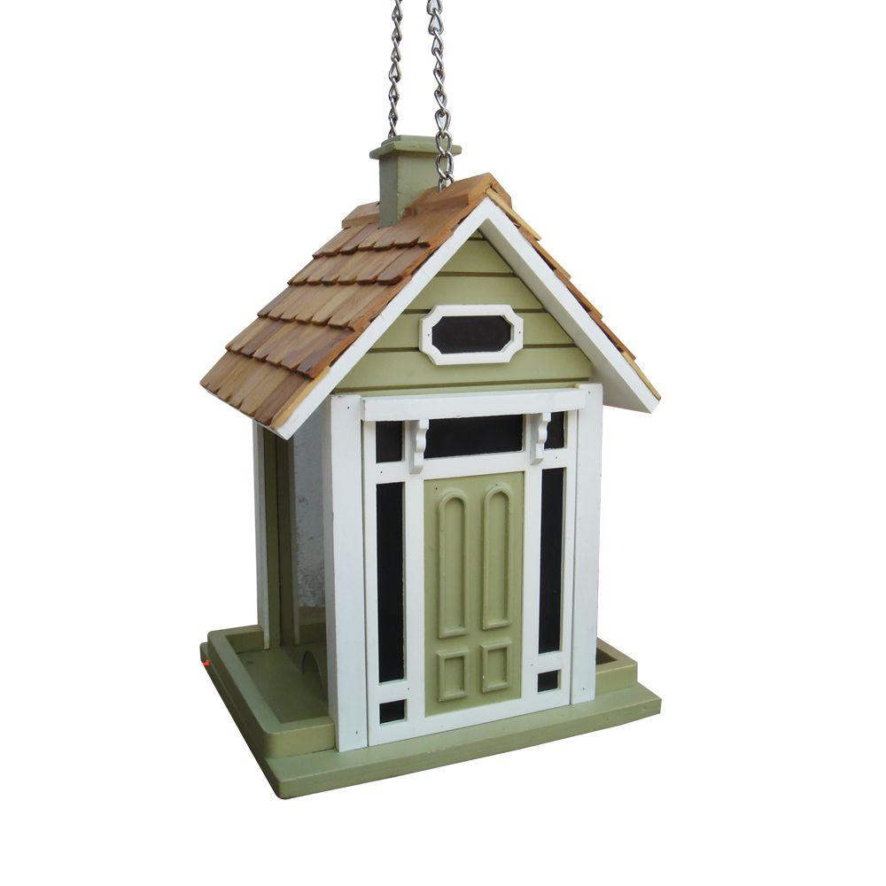 Home Bazaar Bellport Cottage Green Bird Feeder-HB-9033GS - The Home Depot