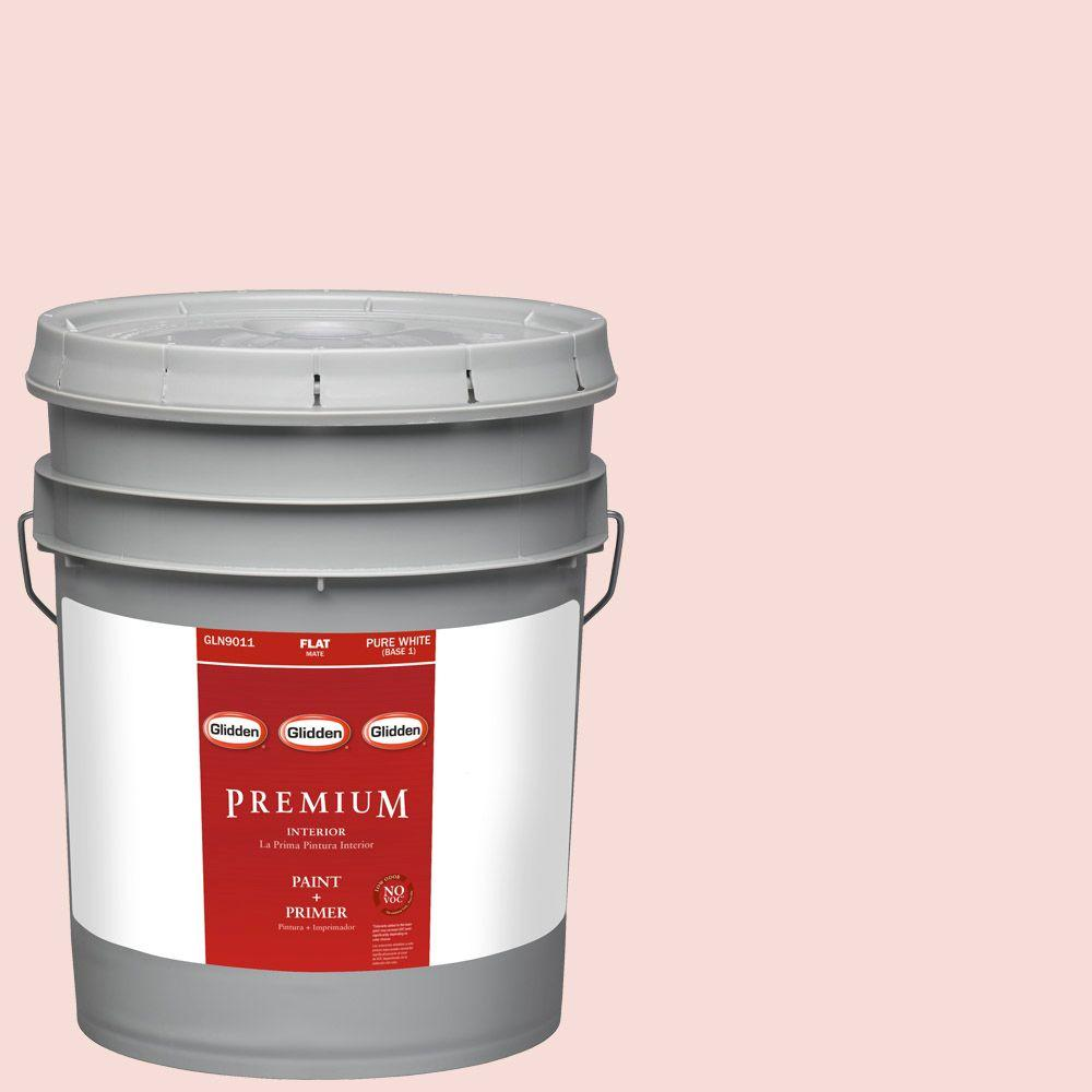 Glidden Premium 5-gal. #HDGR55U Pink Mimosa Flat Latex Interior Paint with Primer