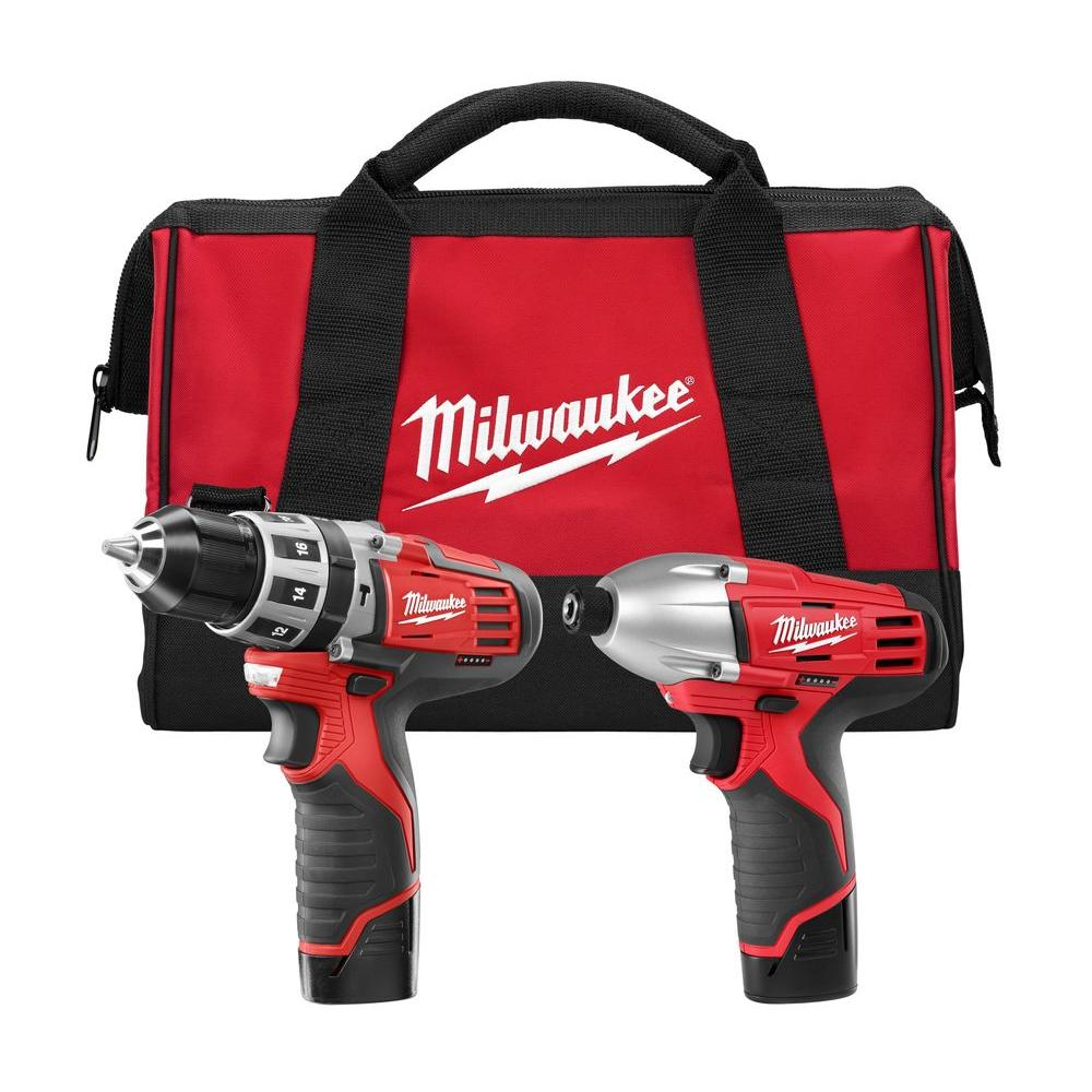 Milwaukee M12 12-Volt Lithium-Ion Cordless Hammer Drill/Impact Driver Combo Kit (2-Tool)