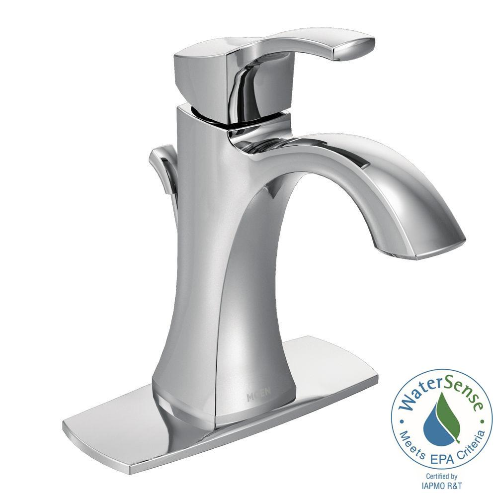 Bathroom Faucet Reviews moen voss single hole 1-handle high-arc bathroom faucet in brushed