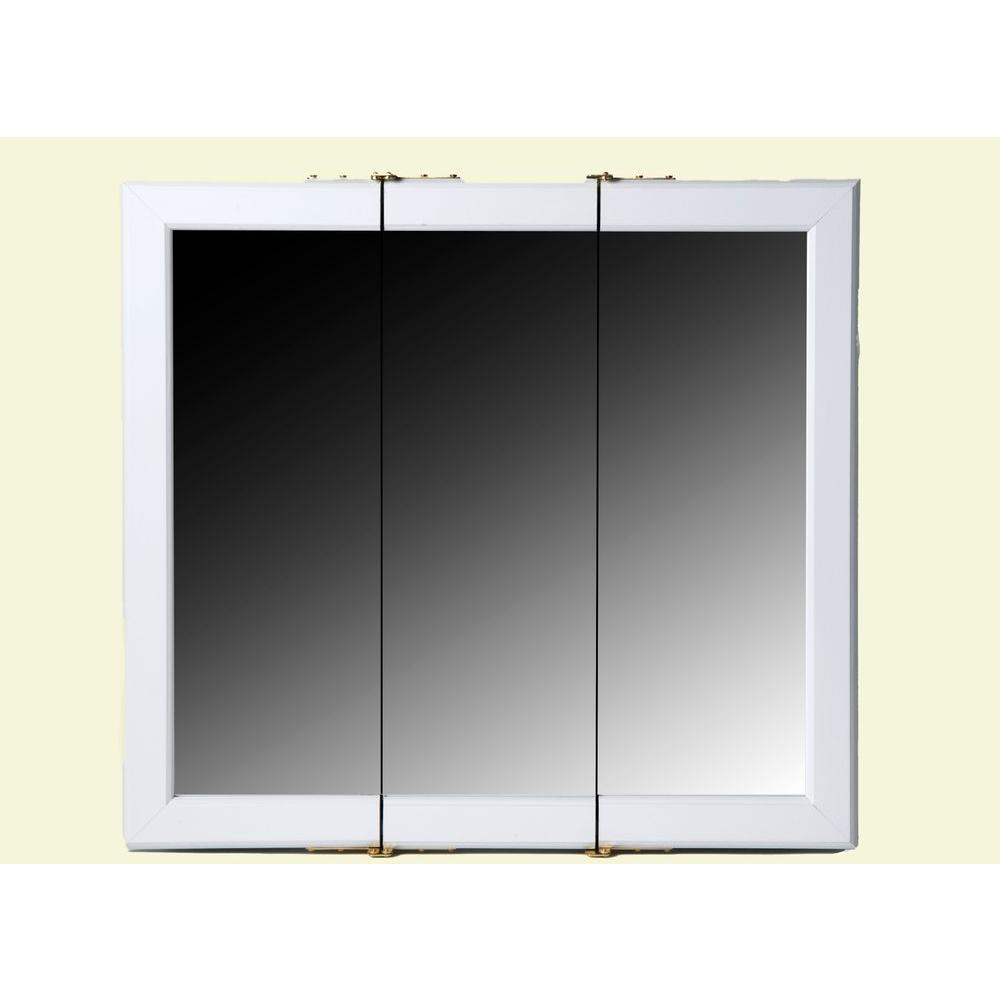 Bionic 24 in. Surface-Mount Mirrored Medicine Cabinet in White-DISCONTINUED