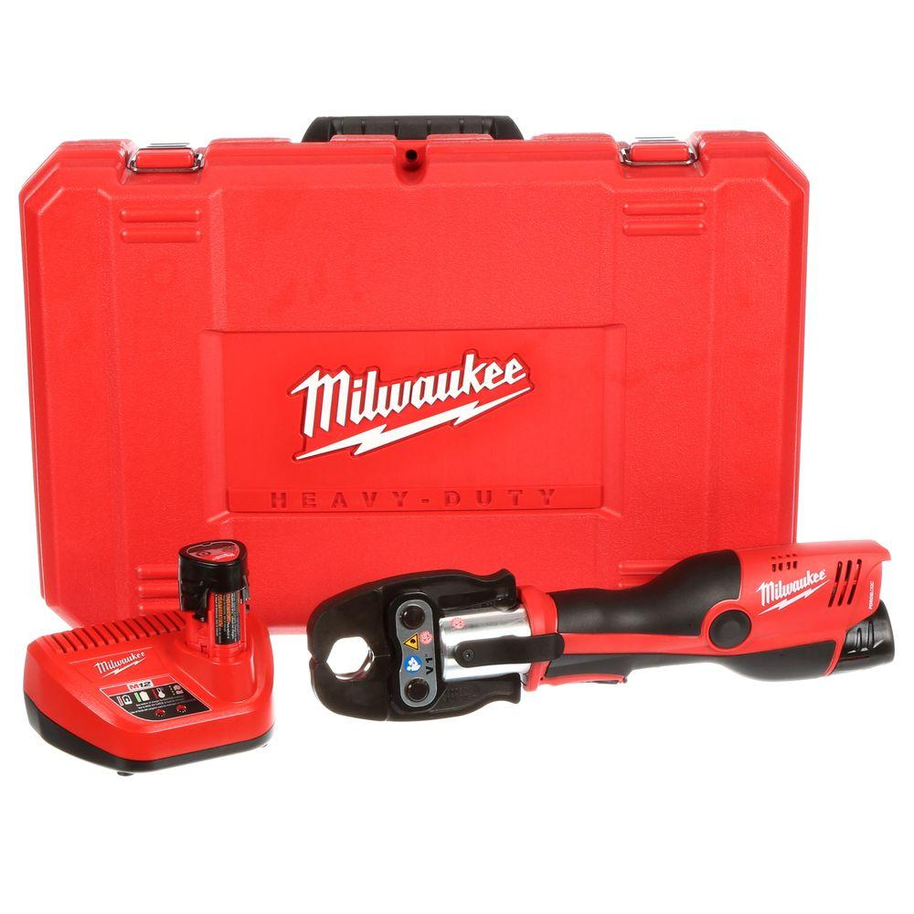 Milwaukee M12 12-Volt Lithium-Ion Cordless Force Logic Press Tool Kit (3 Jaws included)