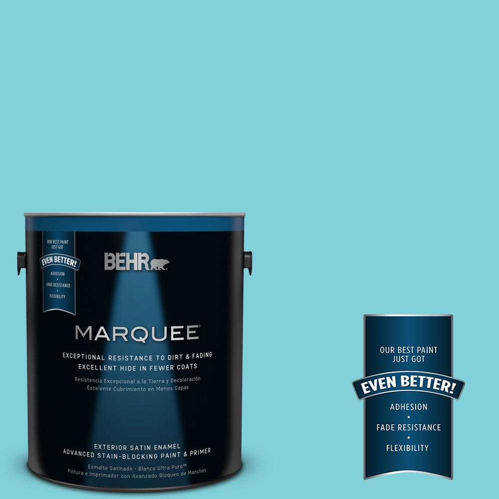 1-gal. #P470-3 Sea of Tranquility Satin Enamel Exterior Paint