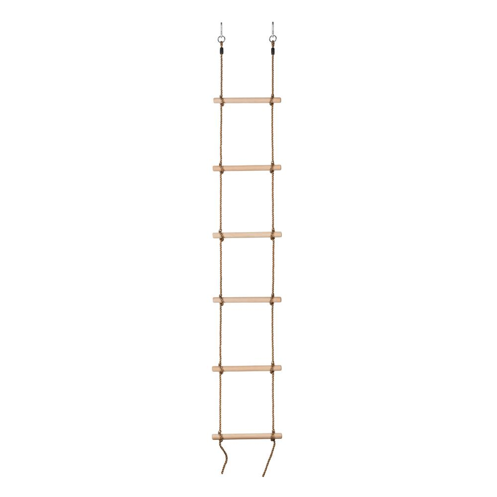 6 Steps Gymnastic Climbing Rope Ladder - Fully Assembled