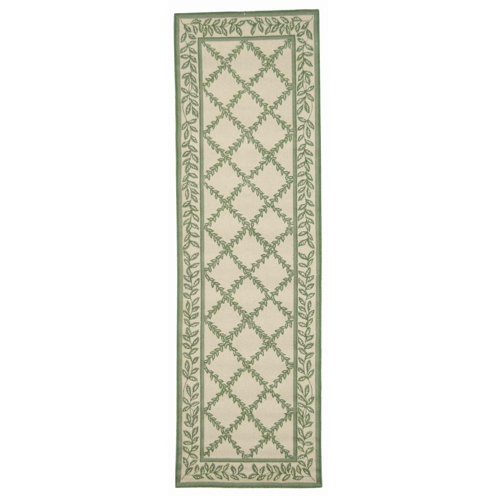 Chelsea Ivory/Light Green 2 ft. 6 in. x 8 ft. Runner
