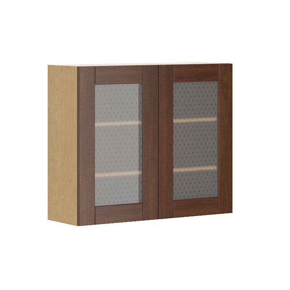 Fabritec Ready To Assemble 36x30x12 5 In Lyon Wall Cabinet In Maple Melamine
