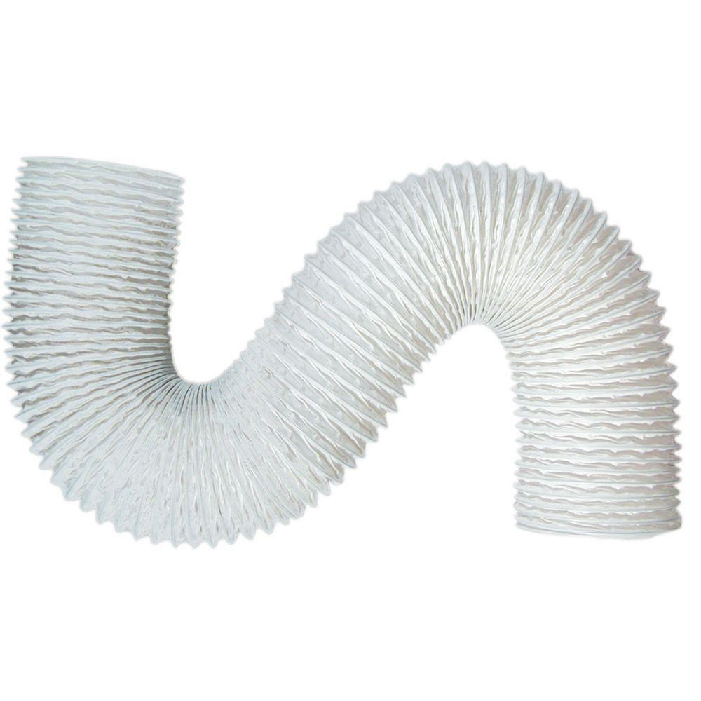 Speedi-Products 4 in. x 20 ft. Standard White Vinyl Flexible Hose
