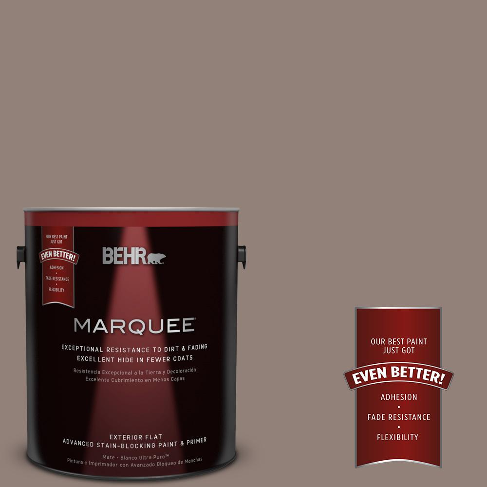 BEHR MARQUEE 1-gal. #BNC-22 Chocolate Chiffon Flat Exterior Paint