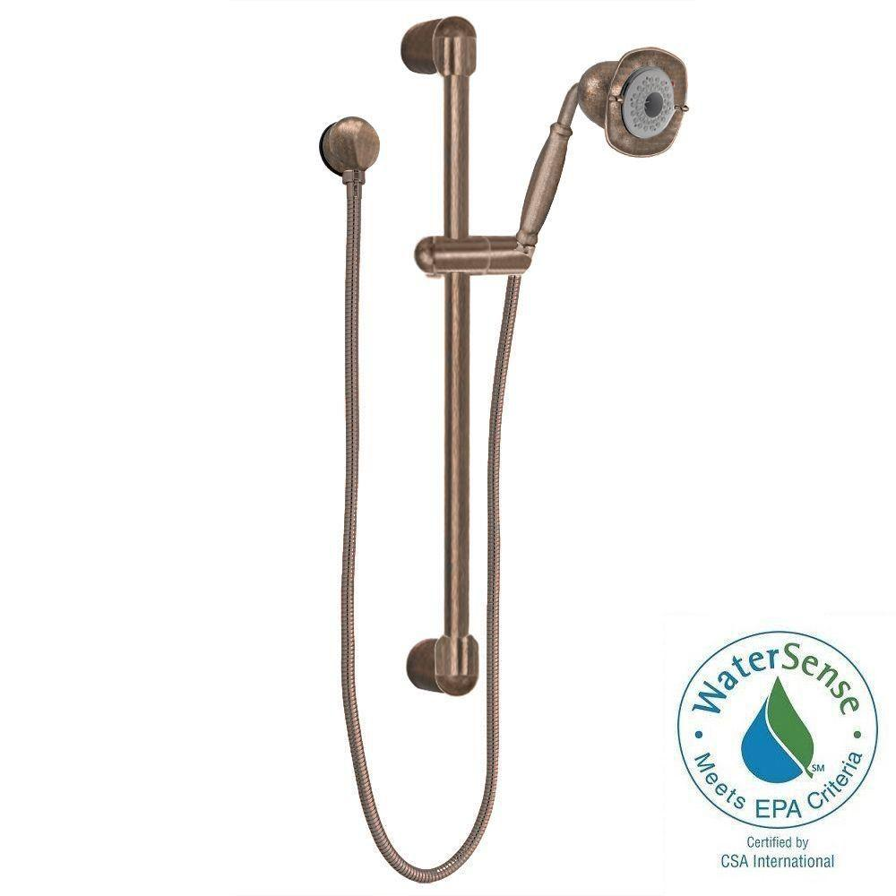 American Standard FloWise Square Transitional 3-Spray Wall Bar Shower Kit in Oil Rubbed Bronze