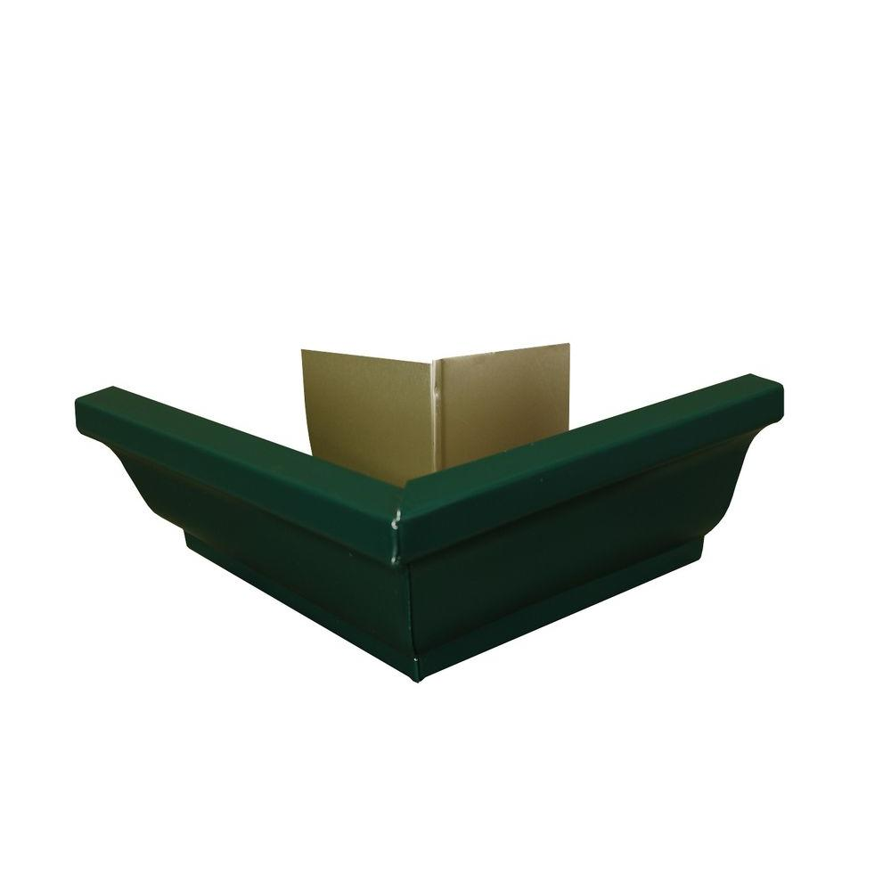 Amerimax Home Products 6 in. Grecian Green Aluminum Outside Gutter Mitre