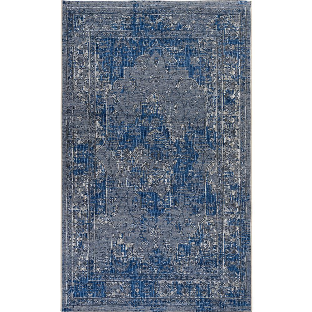Palazzo Light Blue/Blue 5 ft. x 8 ft. Area Rug
