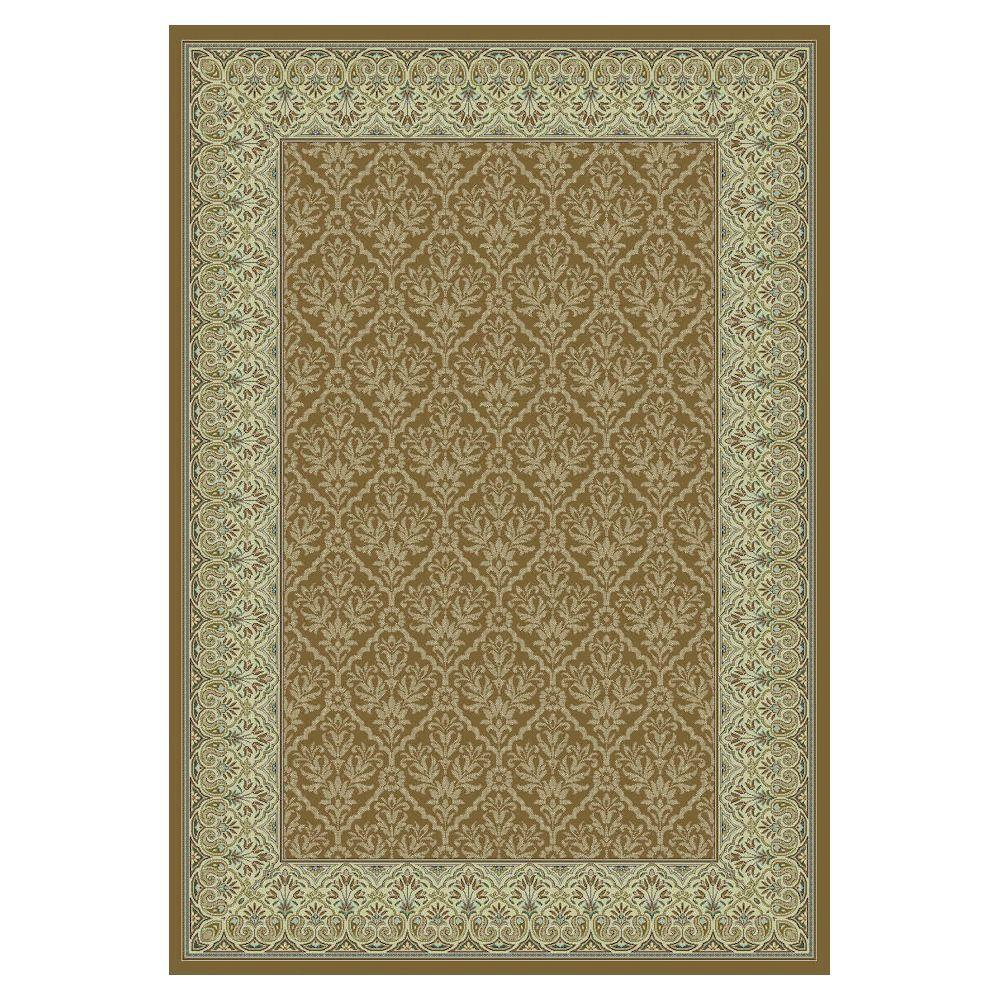 Kas Rugs Sleek Tradition Coffee/Ivory 3 ft. 3 in. x 4 ft. 7 in. Area Rug-DISCONTINUED