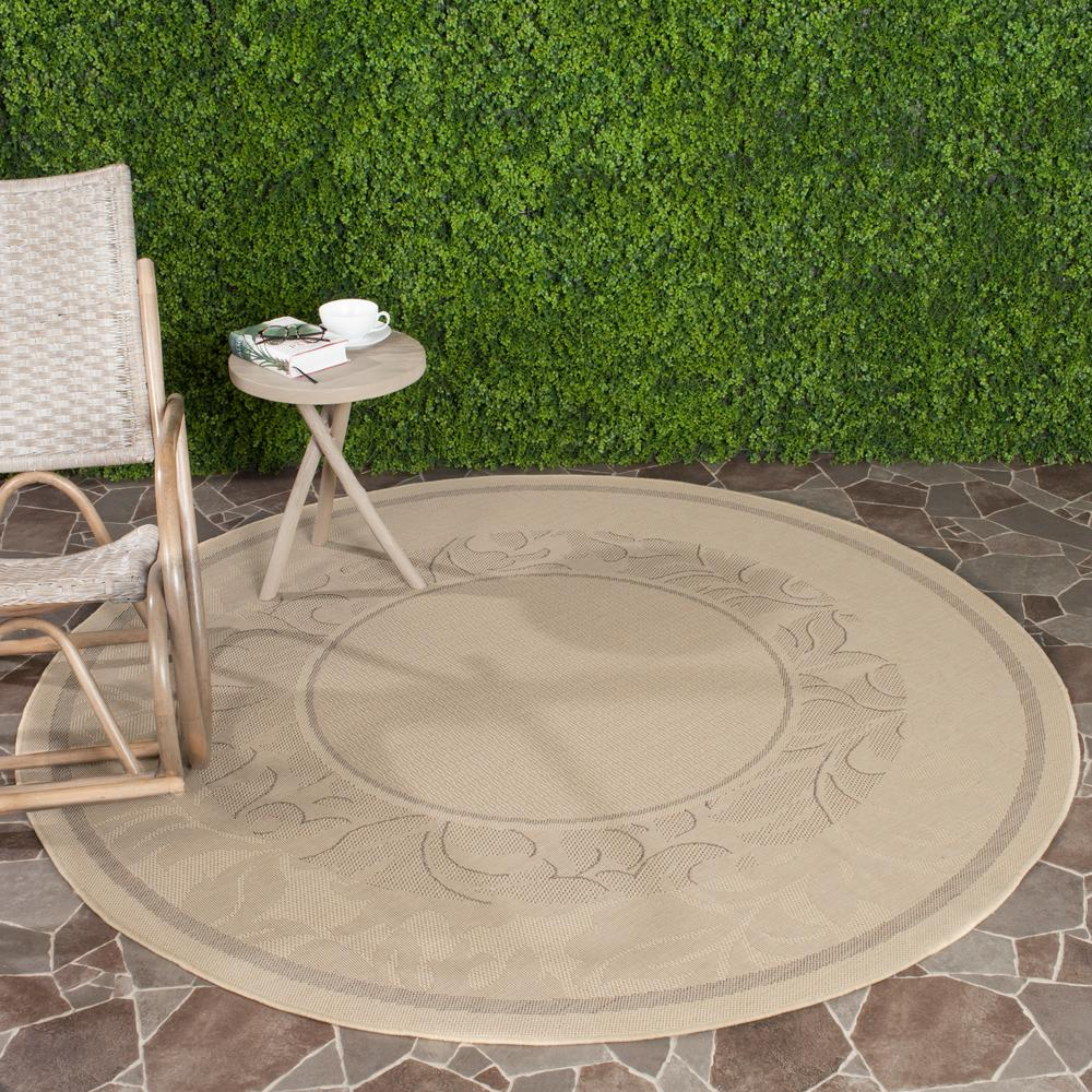 Safavieh Courtyard Natural/Brown 5 ft. 3 in. x 5 ft. 3