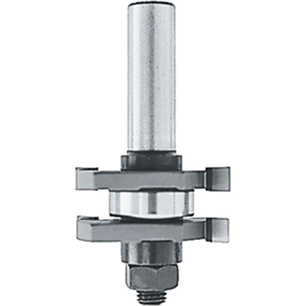 1/4 in. Carbide-Tipped 2-Cutter Tongue and Grove Router Bit 2-Wing with